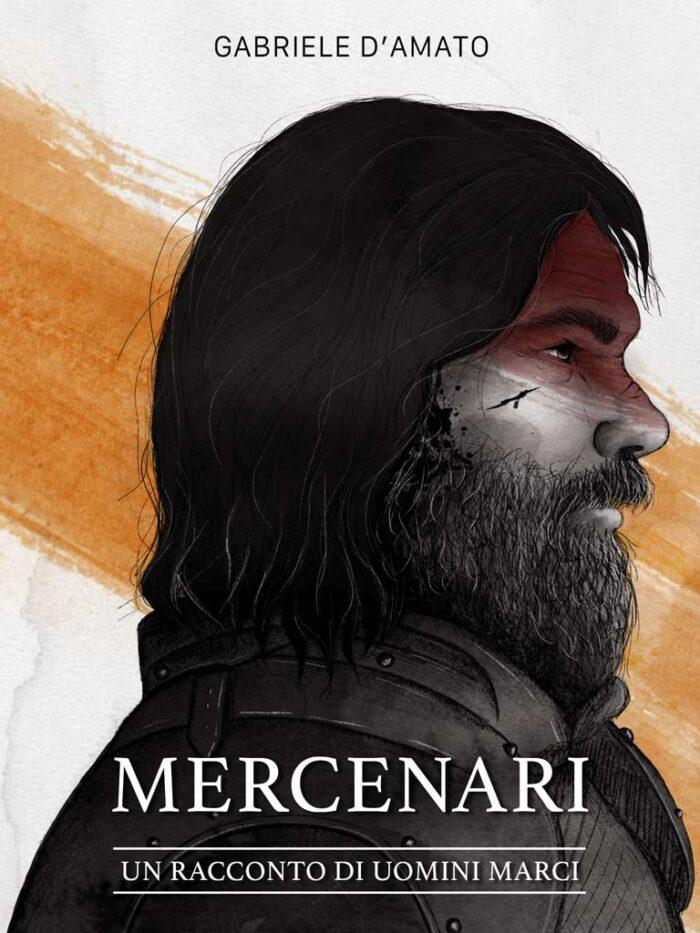 Un uomo di profilo con capelli corvini lunghi e cicatrici sul viso